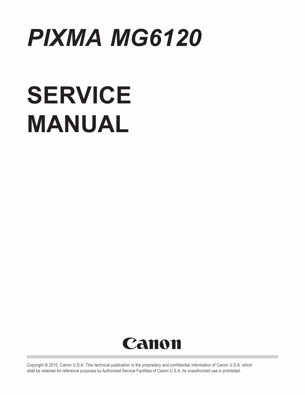 Canon PIXMA MG6120 Service Manual-1